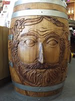 Carved Wine Barrel
