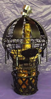 Wine cork cage shaped like a balloon, sparkling wine, wine decorations